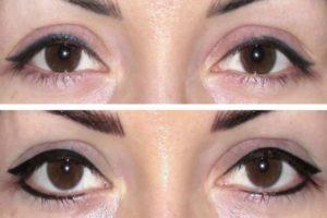 Перманентный макияж фото до и после